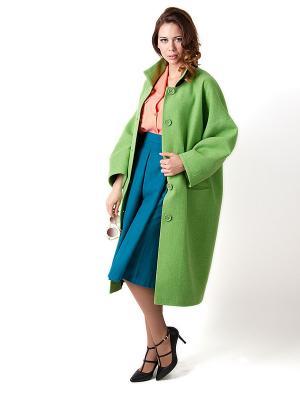 Пальто Vika Smolyanitskaya. Цвет: зеленый