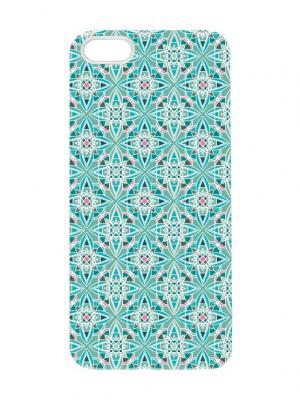 Чехол для iPhone 5/5s Португальский принт Chocopony. Цвет: серо-голубой, светло-голубой, белый