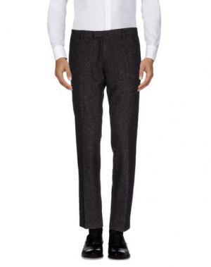 Повседневные брюки DAVID NAMAN. Цвет: баклажанный