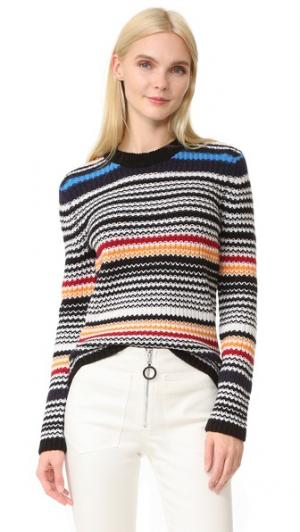 Свитер-пуловер в разную полоску EDUN. Цвет: голубой