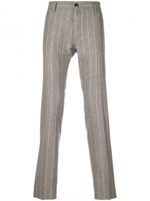 Классические брюки в полоску Jacob Cohen. Цвет: телесный
