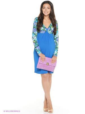 Платье UNIOSTAR. Цвет: синий, зеленый, сиреневый