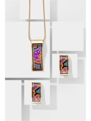 Набор украшений цепочка с кулоном и серьги Вечерний каприз Nothing but Love. Цвет: фиолетовый, рыжий, синий