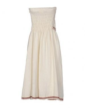 Платье до колена OTTOD'AME. Цвет: слоновая кость