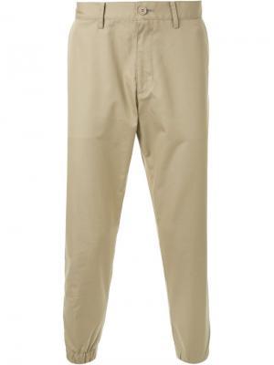 Зауженные брюки Mr. Gentleman. Цвет: коричневый