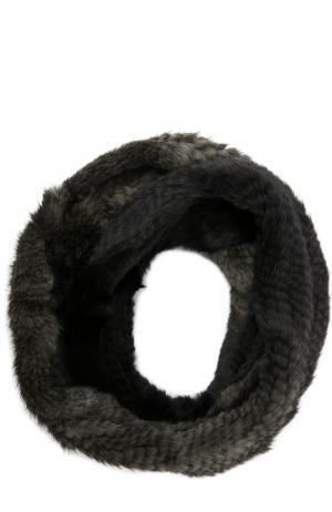 Шарф из меха норки Yves Salomon. Цвет: черный