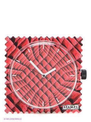 Часы S.T.A.M.P.S.. Цвет: темно-красный, черный