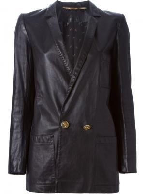 Удлиненный пиджак Roberta  Di Camerino Vintage. Цвет: чёрный