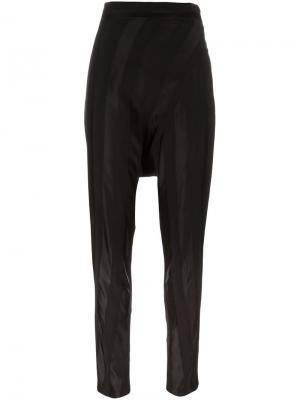 Высокие брюки с заниженной шаговой линией Masnada. Цвет: чёрный