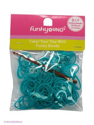 Резиночки для плетения браслетов Funky Fish. Цвет: голубой