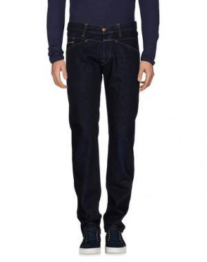 Джинсовые брюки MARITHÉ + FRANÇOIS GIRBAUD. Цвет: синий