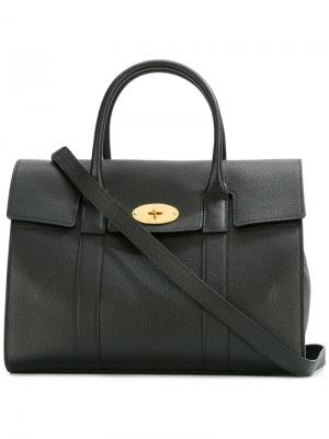 Fold-over closure tote Mulberry. Цвет: чёрный