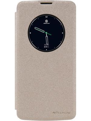 Чехол-книжка Nillkin Sparkle Leather Case для смарфона LG K8. Цвет: золотистый