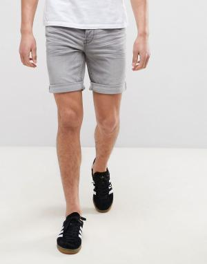 Only & Sons Джинсовые шорты слим. Цвет: серый