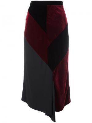 Асимметричная юбка миди Reed Roland Mouret. Цвет: чёрный