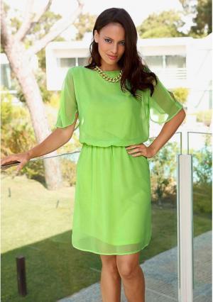 Платье MY STYLE. Цвет: светло-зеленый