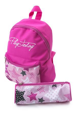 Рюкзак PlayToday. Цвет: розовый, светло-розовый, белый