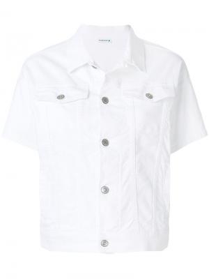Джинсовая куртка с короткими рукавами P.A.R.O.S.H.. Цвет: белый