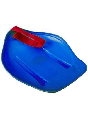 Санки-ледянки с ремнем-ручкой 25х33см, СЛ54534, арт.005 KONONO. Цвет: синий