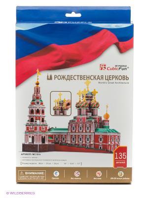 Пазл Рождественская церковь (Россия) CubicFun. Цвет: коричневый, зеленый