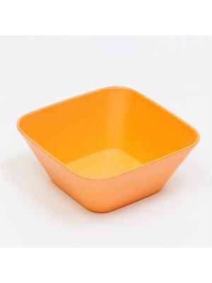Миска квадратная. 12*12*5 см MOULINvilla. Цвет: оранжевый