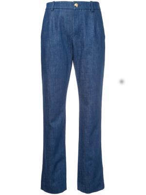 Прямые брюки Lanvin. Цвет: синий