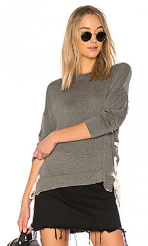 Пуловер inata sen. Цвет: серый