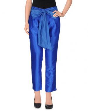 Повседневные брюки LA CAMICIA BIANCA. Цвет: ярко-синий