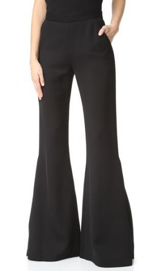 Расклешенные брюки Brandon Maxwell. Цвет: голубой