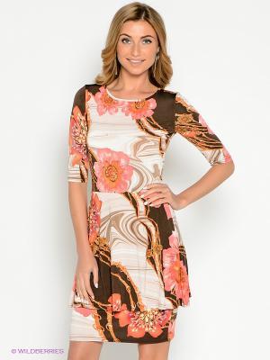 Платье Hammond. Цвет: бежевый, коричневый