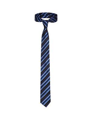 Галстук Легенда Парижа со стильным принтом Signature A.P.. Цвет: черный, голубой, синий