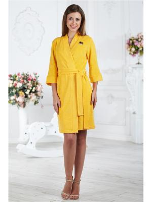 Халаты Банные AnGela. Цвет: желтый