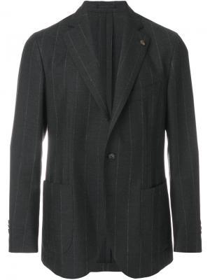 Классический пиджак с застежкой на две пуговицы Gabriele Pasini. Цвет: серый