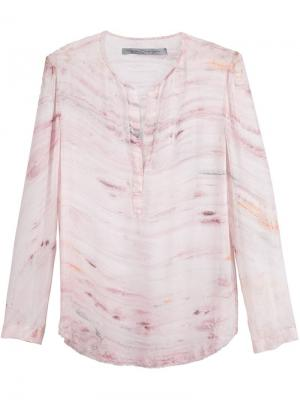 Блузка Хенли Raquel Allegra. Цвет: розовый и фиолетовый