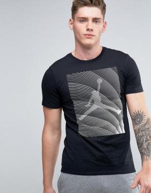 Jordan Черная футболка Nike Horizon 801118-010. Цвет: черный