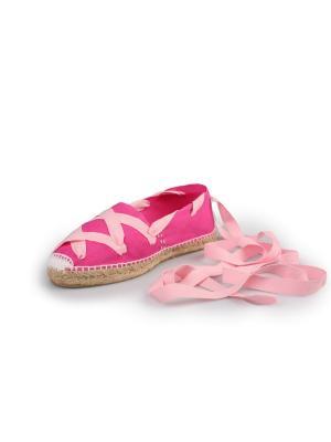 Эспадрильи женские La casa de espadrilles Classic Laces Rose. Цвет: розовый