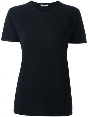 Кашемировая футболка 6397. Цвет: синий