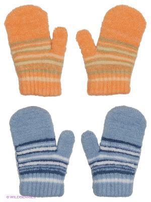 Варежки FOMAS. Цвет: голубой, молочный, оранжевый, белый