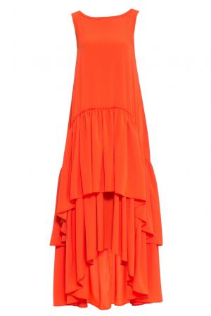 Платье 160674 Infinee. Цвет: оранжевый