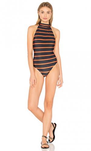 Сплошной купальник на шлейках с открыто спиной Lenny Niemeyer. Цвет: черный