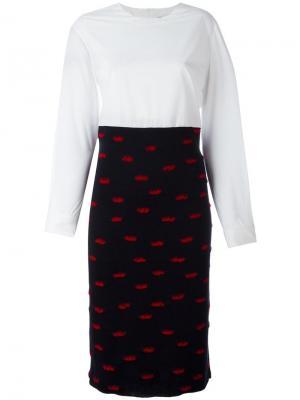 Платье-рубашка Rip Jimi Roos. Цвет: белый
