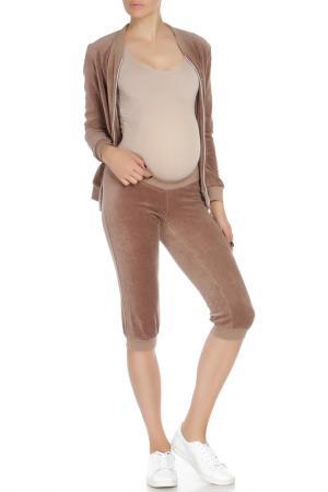 Костюм для беременных Nuova Vita. Цвет: бежевый