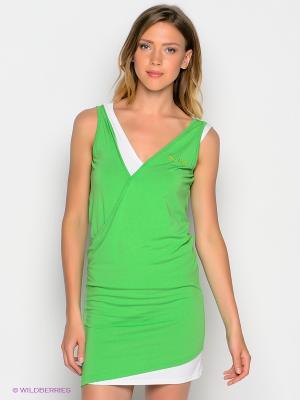 Платье DOCTOR E. Цвет: салатовый, белый