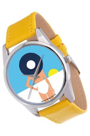 Часы Пляж MITYA VESELKOV. Цвет: синий, желтый, белый