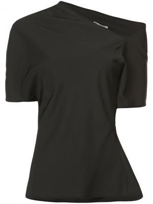 Асимметричная блузка Luminosity Maticevski. Цвет: чёрный