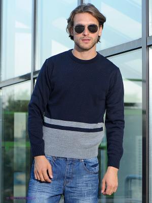 Джемпер Urban fashion for men. Цвет: темно-синий, серый