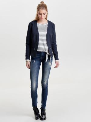Пиджак ONLY. Цвет: серо-голубой, темно-синий