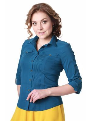 Блузка BLAUZ. Цвет: лазурный