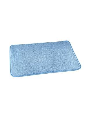Коврик для ванной комнаты 65х45см NIKLEN. Цвет: голубой