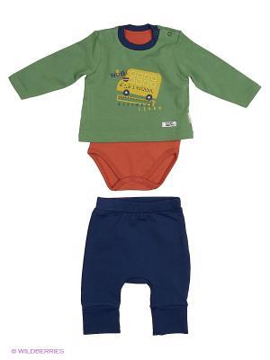 Костюм для малышей WO&GO. Цвет: оливковый, коричневый, темно-синий